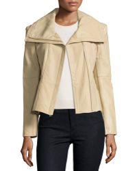 Neiman Marcus - Asymmetric Leather Jacket - Lyst