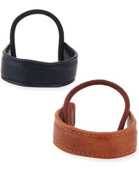 Neiman Marcus - Two-piece Faux-leather Ponytail Holder Set - Lyst