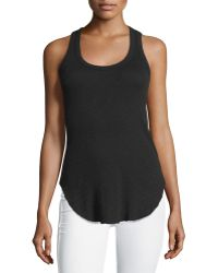 Jethro - Ribbed Scoop-neck Cotton Tank Top - Lyst