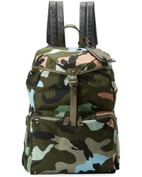 25abf87a5394 Lyst - Burberry Camouflage Print Backpack in Blue for Men