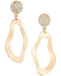 Lydell NYC - Crystal & Wavy Dangle Earrings - Lyst