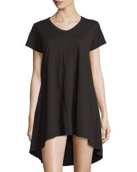 Jethro - Short-sleeve High-low Shift Dress - Lyst