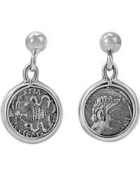 1884 Collection - Legacy Silver Ottaviano Coin Ball Drop Earrings - Lyst