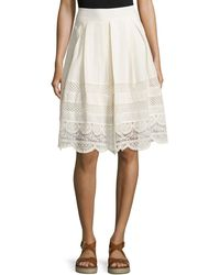 96743301eab46 Cirana - Lace-inset A-line Skirt - Lyst