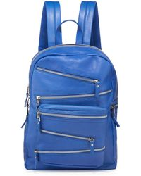 Ash - Angel Large Zip-front Leather Backpack - Lyst