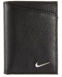 Nike - Men's Pebbled Leather Trifold Wallet - Lyst