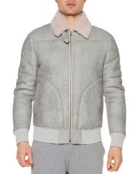 Tomas Maier - Shearling Fur Zip-up Coat - Lyst