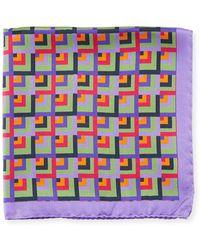 Bugatchi - Multicolor Square Silk Pocket Square - Lyst