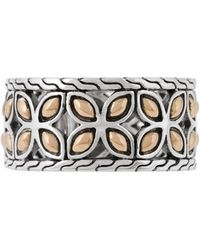 John Hardy - Kawung 18k Gold & Sterling Silver Band Ring - Lyst