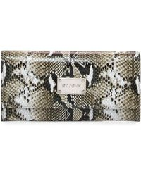 St. John - Python-embossed Leather Wallet - Lyst