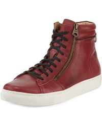 Andrew Marc - Remsen Leather High-top Sneaker - Lyst