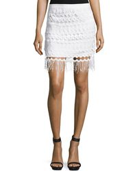 Goldie London | Vallence Lace Mini Skirt With Tassels | Lyst