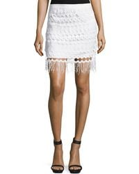 Goldie London - Vallence Lace Mini Skirt With Tassels - Lyst