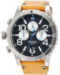 Nixon - 48-20 Chrono Leather Watch - Lyst
