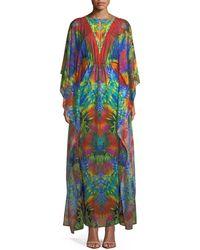 Luli Fama - Button-keyhole Caftan Maxi-dress - Lyst