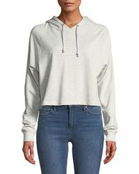 Joe's - French Terry Cropped Pullover Hoodie - Lyst