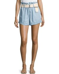 MINKPINK - Clean-cut Belted Paperbag Shorts - Lyst