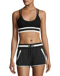 BLANC NOIR - Ballet Wrap Sports Bra Top Black - Lyst
