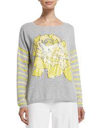Joan Vass - Rose/striped Sweater - Lyst