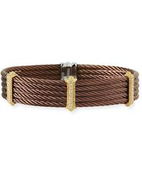 Alor - Petra Stacked Cable Bangle W/ Diamonds - Lyst