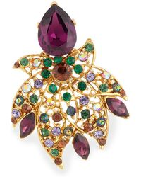 Jose & Maria Barrera - Crystal Leaf Pin - Lyst