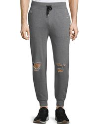 Threads For Thought Men's Lux French Terry Distressed Jogger Pants