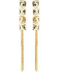 Fragments - Crystal Fringe Drop Earrings - Lyst