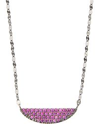 Lana Jewelry - 14k Electric Crescent Pendant Necklace Pink Sapphire - Lyst