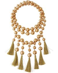 Lydell NYC - Statement Tassel Necklace - Lyst