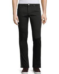 Versace - Studded-side Denim Pants - Lyst