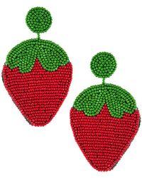 Kenneth Jay Lane - Strawberry Drop Earrings - Lyst