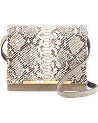 B Brian Atwood | Sadie Snake-embossed Leather Crossbody Bag | Lyst