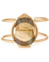 Lydell NYC - Golden Open Statement Cuff Bracelet - Lyst