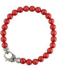 Stephen Webster - Men's London Calling Red Coral Bead Bracelet - Lyst
