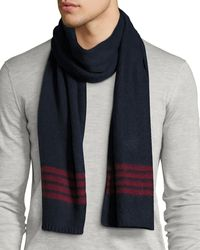 Cole Haan Brushed Striped Scarf