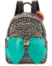 B Brian Atwood - Bow Dotted Faux-leather Backpack - Lyst
