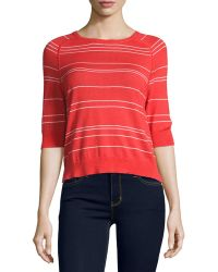 Todd And Duncan - Cashmere-blend Striped Top - Lyst