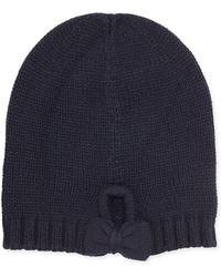 Ivanka Trump - Gathered Bow Knit Beanie - Lyst