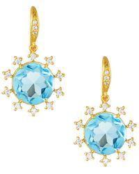 Indulgems - Cubic Zirconia Starburst Earrings - Lyst