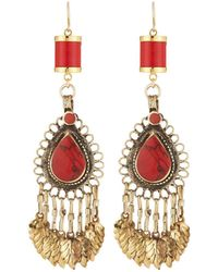 Devon Leigh - Coral Chandelier Earrings - Lyst