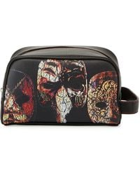 Robert Graham - Faux-leather Mask-print Cosmetic Bag - Lyst