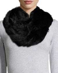 Annabelle New York - Rabbit Fur Eternity Scarf - Lyst
