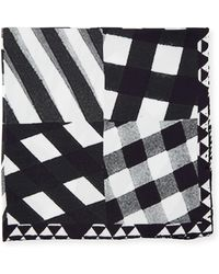 Bugatchi - Gingham-print Silk Pocket Square - Lyst