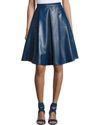 Goldie London | Lateral Standing Faux-leather A-line Skirt | Lyst