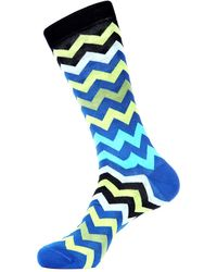 Jared Lang - Chevron-print Cotton-blend Socks - Lyst