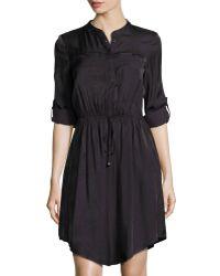 Dance & Marvel - Roll-tab Sleeve Two-pocket Dress - Lyst