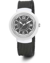 Alor - 43mm Cavo Ceramic & Stainless Steel Bracelet Watch - Lyst