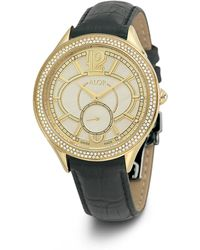 Alor - 38mm Valenti Watch W/ Diamond Bezel & Leather Strap - Lyst