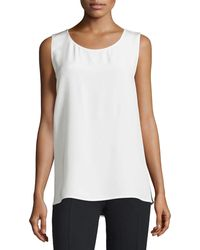 CoSTUME NATIONAL - Round-neck Two-tone Tank - Lyst
