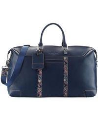 Robert Graham - Paisley Leather Weekender Bag - Lyst